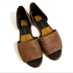 DOLCE VITA Brown Leather D'Orsay Flats 7.5